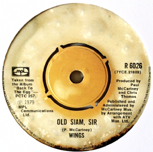 "Wings - Old Siam, Sir (7"") (G/NM)"